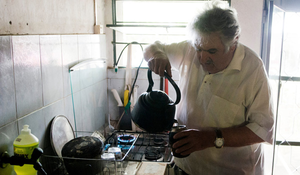 Jose Mujica in his kitchen